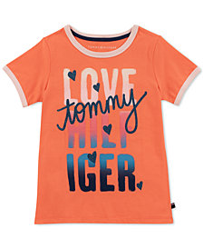 Tommy Hilfiger Big Girls Love Ringer T-Shirt