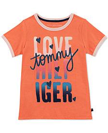 Tommy Hilfiger Big Girls Love Ringer T-Shirt