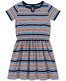 Tommy Hilfiger Big Girls Striped Fit & Flare Dress