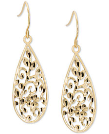 Giani Bernini Filigree Drop Earrings in 18k Gold-Plated Sterling Silver, Created for Macy's