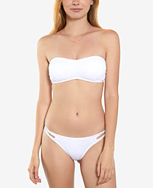 O'Neill Salt Water Solids Corset Bralette Bikini Top & Strappy Swim Bottoms