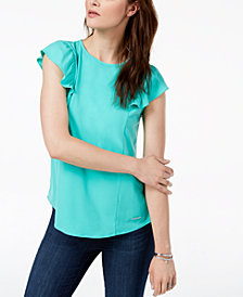 MICHAEL Michael Kors Ruffled-Sleeve Top