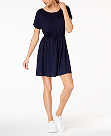 French Connection Ravenna Drawstring-Waist Dress