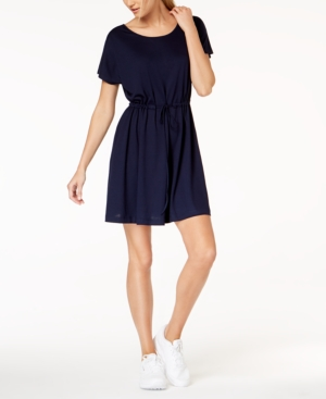 French Connection Ravenna Drawstring-Waist Dress