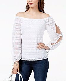 MICHAEL Michael Kors Lace Off-The-Shoulder Top