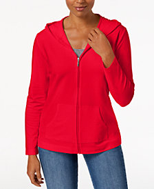 Karen Scott Hooded Active Jacket, Created for Macy's