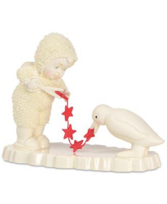 Snowbabies Stringing Macy's Garland Figurine