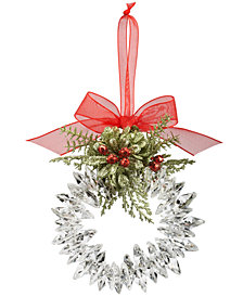Ganz Kissing Krystals Mistletoe Wreath Ornament