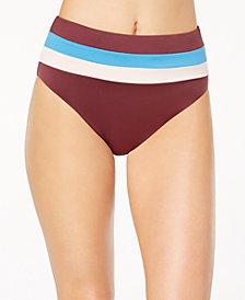 Bar III Colorblocked High-Waist Bikini Bottoms, Created for Macy's