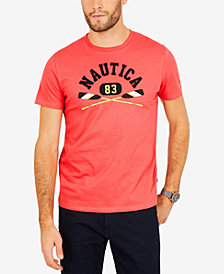Nautica Men's Crossed Oars Logo-Print T-Shirt