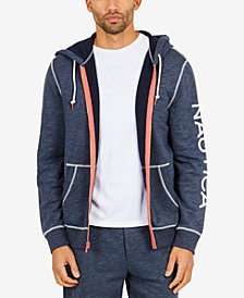 Nautica Men's Graphic-Print Zip-Front Hoodie