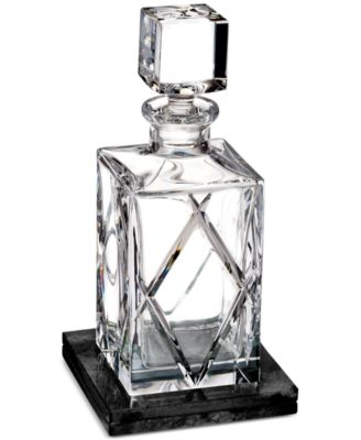 Olann Square Decanter with Marble Coaster