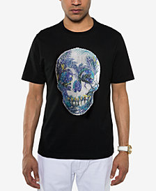 Sean John Men's Sequin Skull T-Shirt