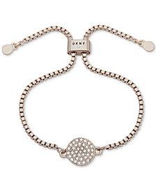 DKNY Pavé Disc Slider Bracelet