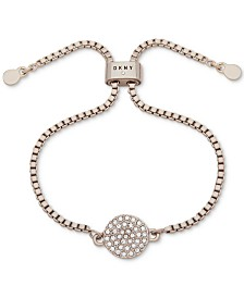 DKNY Pavé Disc Slider Bracelet, Created for Macy's
