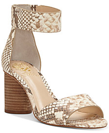 Vince Camuto Jacon Two-Piece Cylinder-Heel Sandals
