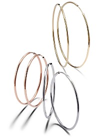 Endless Hoop Earring Collection in 14k Gold, White Gold & Rose Gold