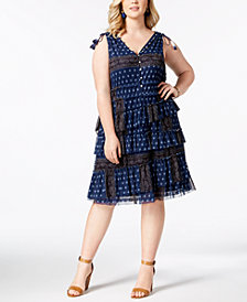 Love Scarlett Plus Size Multi-Tiered Tassel-Trimmed Dress