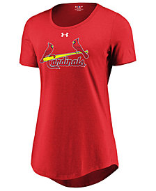 Under Armour Women's St. Louis Cardinals Team Font Scoop T-Shirt