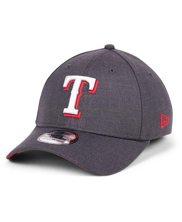New Era Texas Rangers Charcoal Classic 39THIRTY Cap