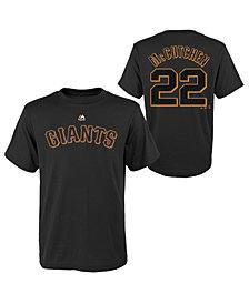 Majestic Andrew McCutchen San Francisco Giants Official Player T-Shirt, Big Boys (8-20)