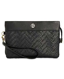 Giani Bernini Softy Weave Convertible Wristlet, Created for Macy's