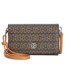 Giani Bernini Plaid Block Signature Crossbody Wallet, Created for Macy's