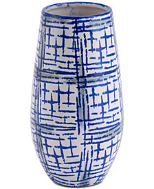 Zuo Rioja Medium Vase Blue & White
