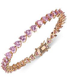 Nina Gold-Tone Cubic Zirconia Heart Link Bracelet