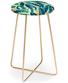 Deny Designs Marta Barragan Camarasa Tropical Leaf  Counter Stool