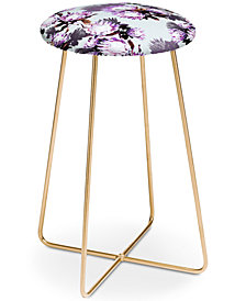 Deny Designs Marta Barragan Camarasa Protea Floral Counter Stool