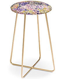 Deny Designs Ninola Design Purple Speckled Counter Stool