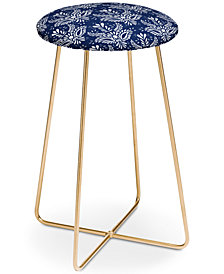 Deny Designs Marta Barragan Camarasa Indigo Watercolor Counter Stool