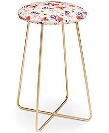 Deny Designs Marta Barragan Camarasa Flowery Flamingos Counter Stool