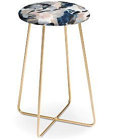 Deny Designs Laura Fedorowicz Parchment Abstract Counter Stool