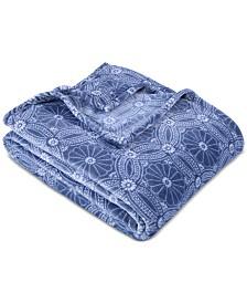 """Berkshire VelvetLoft Dot Mandala 90"""" x 90"""" Bed Blanket"""