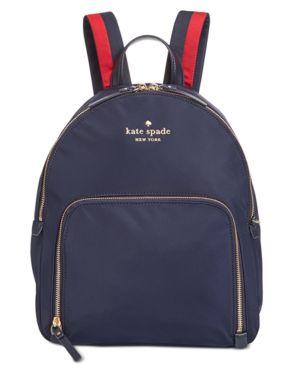 Watson Lane - Hartley Varsity Stripe Nylon Backpack - Blue, Rich Navy