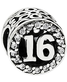 Rhona Sutton Cubic Zirconia Birthday Bead Charms in Sterling Silver