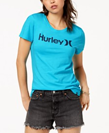 Hurley Juniors' Perfect Crew Logo Graphic T-Shirt