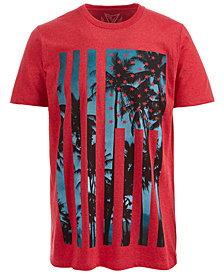 Univibe Men's American Island Graphic-Print T-Shirt