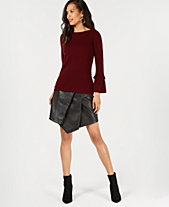 88780a952ab Charter Club Pure Cashmere Ruffled-Sleeve Sweater in Regular and Petite  Sizes