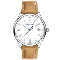 Movado Heritage Quartz White Dial Ladies Watch