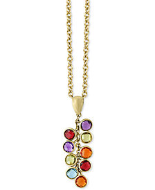 "EFFY® Multi-Gemstone 18"" Lariat Necklace (2-3/8 ct. t.w.) in 14k Gold"