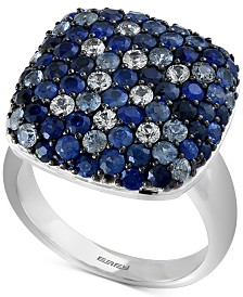 EFFY® Sapphire Ring (3-1/5 ct. t.w.) in Sterling Silver