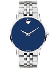 Men's Swiss Museum Classic Stainless Steel Bracelet Watch 40mm