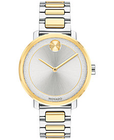 Movado Women's Swiss BOLD Two-Tone Stainless Steel Bracelet Watch 34mm, Created for Macy's