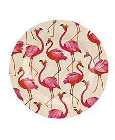 Sara Miller Flamingo Melamine 8'' Salad Plates, Set of 4