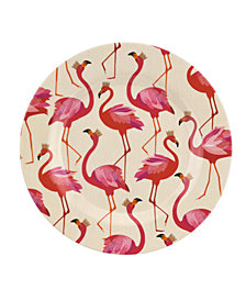 Portmeirion Sara Miller Flamingo Melamine 8'' Salad Plates, Set of 4