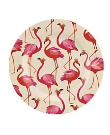 Portmeirion Sara Miller Flamingo Melamine 8'' Salad Plates, Set of 4