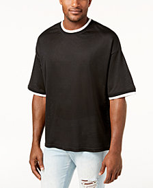 Jaywalker Men's Drop Shoulder Mesh T-Shirt